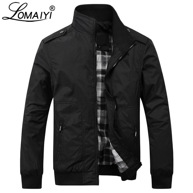 LOMAIYI NEW Men's Jacket Men Autumn Casual Coat 2018 Mens Fashion Windbreaker Male Khaki Jackets Clothes Business Overcoat BM160