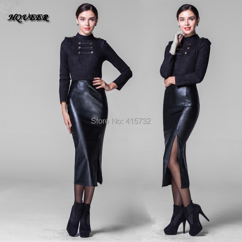 Popular Long Leather Skirts-Buy Cheap Long Leather Skirts lots ...