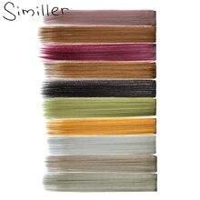 Один кусок полосок Similler цветной выделитель синтетические удлинители волос клипса Омбре 22 дюйма длинные прямые шиньоны для фанатов