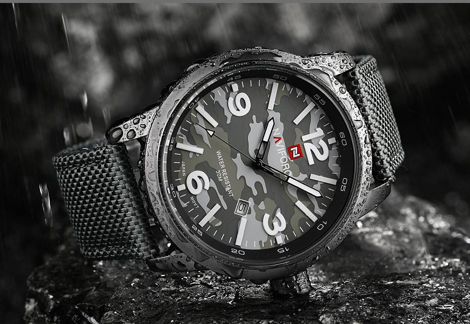 2017 Nouveau NAVIFORCE Hommes Quartz Sport Militaire Montres Hommes De Luxe de Marque De Mode Casual Montre-Bracelet Relogio Masculino Homme Horloge 16