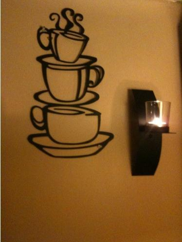 Cute Colorful  PVC Removable a cup of  tea glass of  Wall Stickers Hot Selling Wall Decals For Home Decor