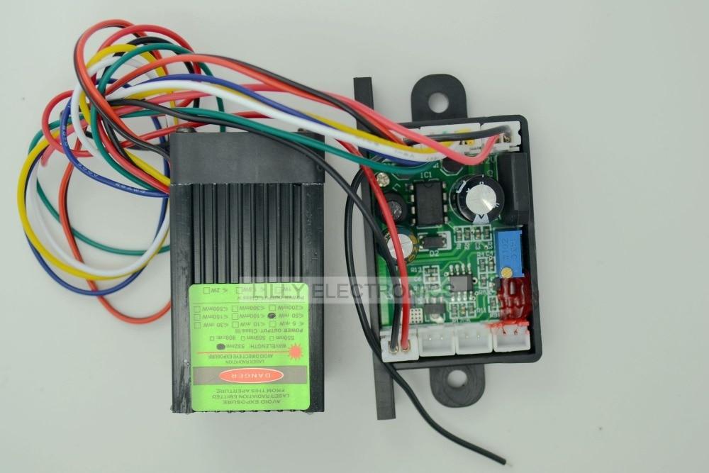12V 532nm 50mw Green DPSS Laser Dot Module Fan Cooling TTL 0-30KHZ- DIY Lab High Quality 405nm 400mw violet puple laser dot module 12v ttl fan cooling long time working