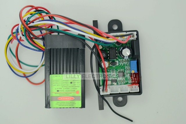12V 532nm 50mw Green DPSS Laser Dot Module Fan Cooling TTL 0 30KHZ  DIY Lab High Quality