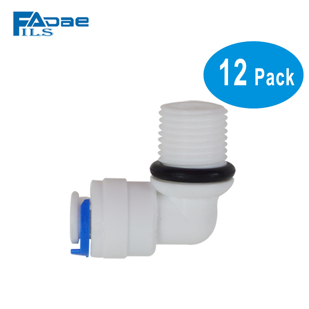 Quick Connect 1/4 to 1/4 Male with O-ring Ro Reverse Osmosis water Filter Fitting Male Elbow -Pack of 12 6es5 482 8ma13