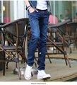 Winter men color retro stretch jeans pants men slim feet male youth Fashion Brand  fashion design  SX548