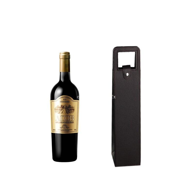 100 Stks Rode Wijn Fles Zakken Pu Lederen Verpakking Case Wijn Zakken Gift Opslag Dozen Met Handvat Draagbare Bar Accessoires