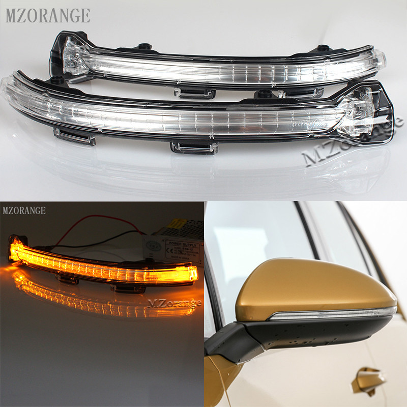 MZORANGE Outside Rear View Mirror LED Turn Signal Light Lamp Indicator 5GD 949 102 For VW Golf 7 Mk7 2014 2015 2016 Left / Right car styling for mercedes benz a160 a180 a200 b160 b180 b200 w169 w245 rear view mirror turn signal lamp left right light