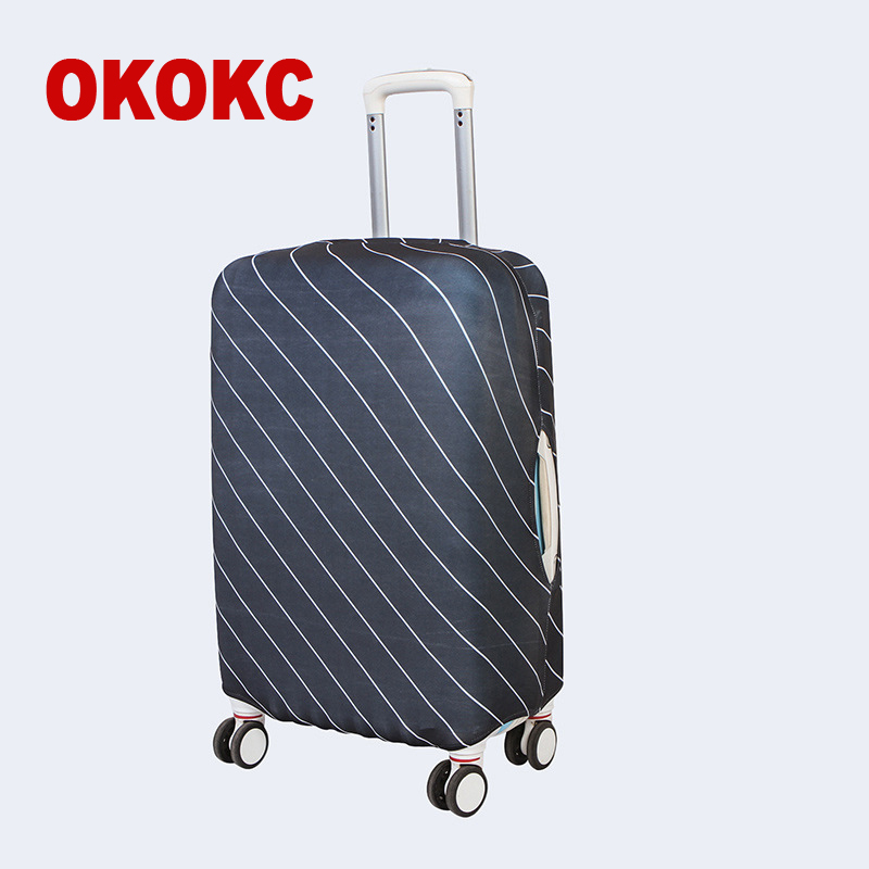 OKOKC Black Striped Suitcase Protective Covers Apply To 18~30 Inch Case Elastic Travel Luggage Cover Stretch Trolley Dust Cover