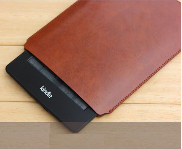 W401 Microfiber leather tablet sleeves e-book covers cases for kindle 1 2 3 brown Black