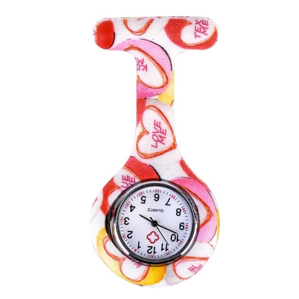 Shellhard Fashion Prints Kolorowe zegarki pielęgniarek Przenośny - Zegarki kieszonkowe - Zdjęcie 3