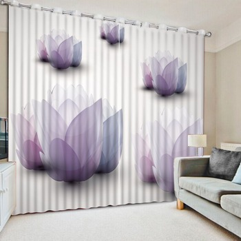 Photo Customize size Curtains for living room 3d flower curtains curtains for living room Home Decoration
