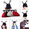 Прекрасный насекомых Трикотажные Детские шапки Мальчики Девочки Малышей Вязание Шапочки антенна дети зима теплая skullie Милые Дети вязание Шапки
