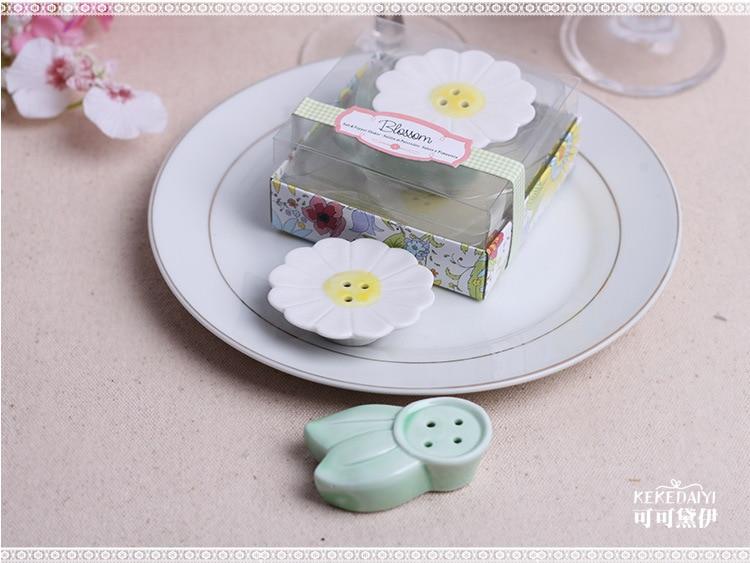 svatební přízeň dárek a dárky - Keramický květ Květinová sůl a pepř Shaker party suvenýr pro hosty 100sets / lot