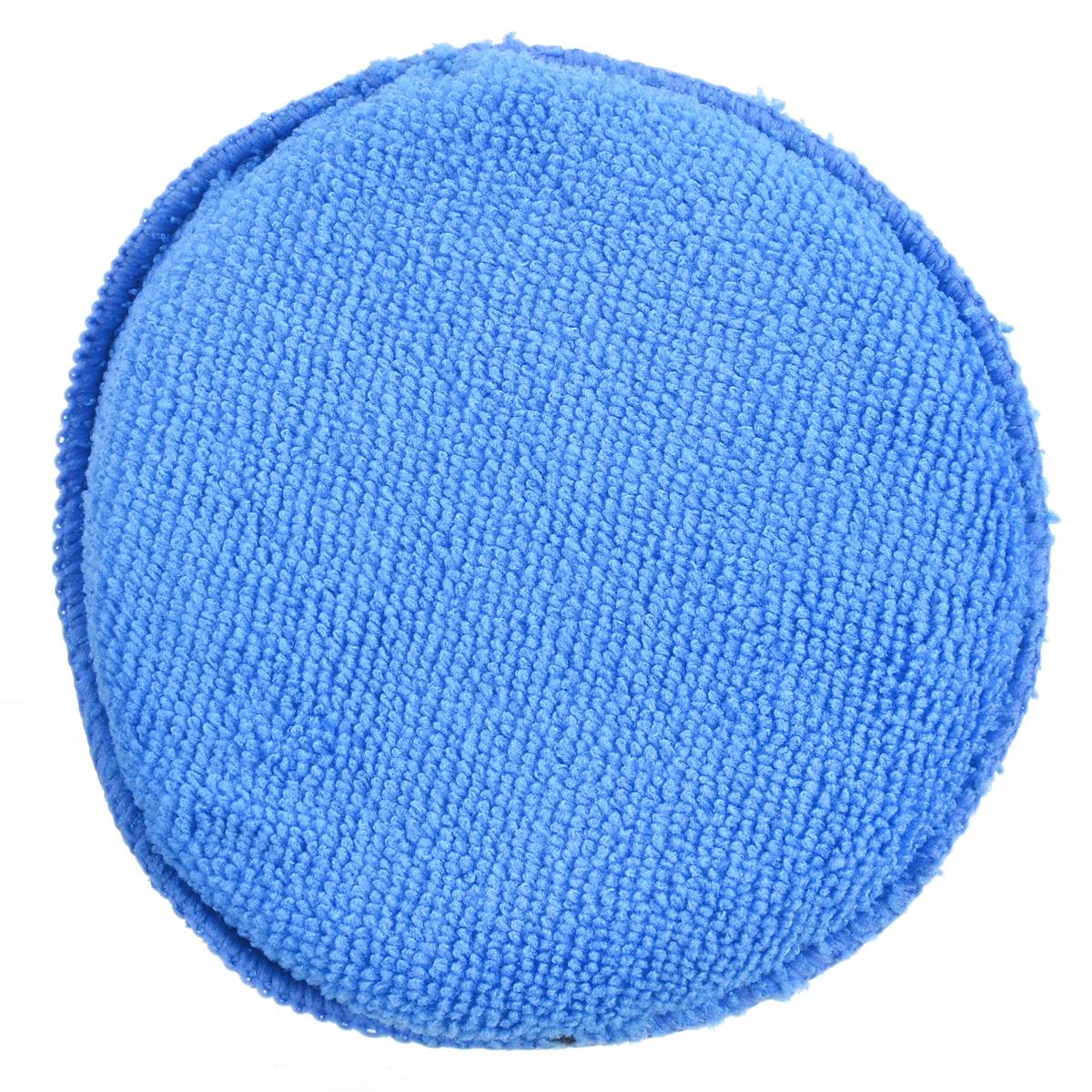 Mayitr 5 Pcs Microfiber Car Waxing Polish Foam Sponge Pad Wax Applicator Cleaning Detailing Pads Blue Mat Diameter 5 inch