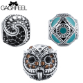 GAGAFEEL Round Shape Charm Original Beads Fit For European Pandora Bracelets Necklaces Bangle Chain Special DIY Friendship Gifts