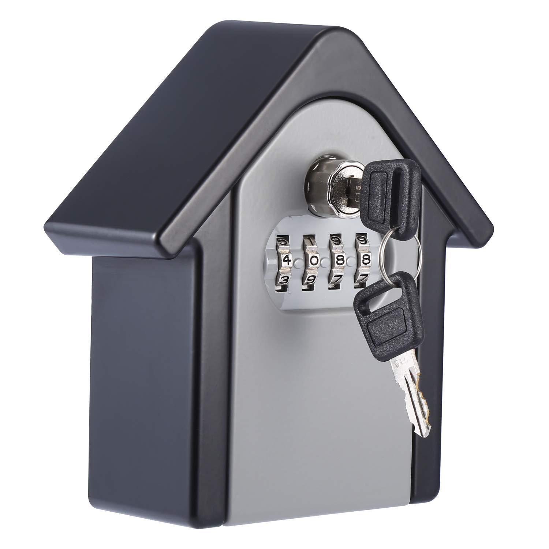 HIGH SECURITY WALL MOUNTED KEY SAFE BOX 4 CODE LOCK STORAGE  2 STYLES WARRANTY