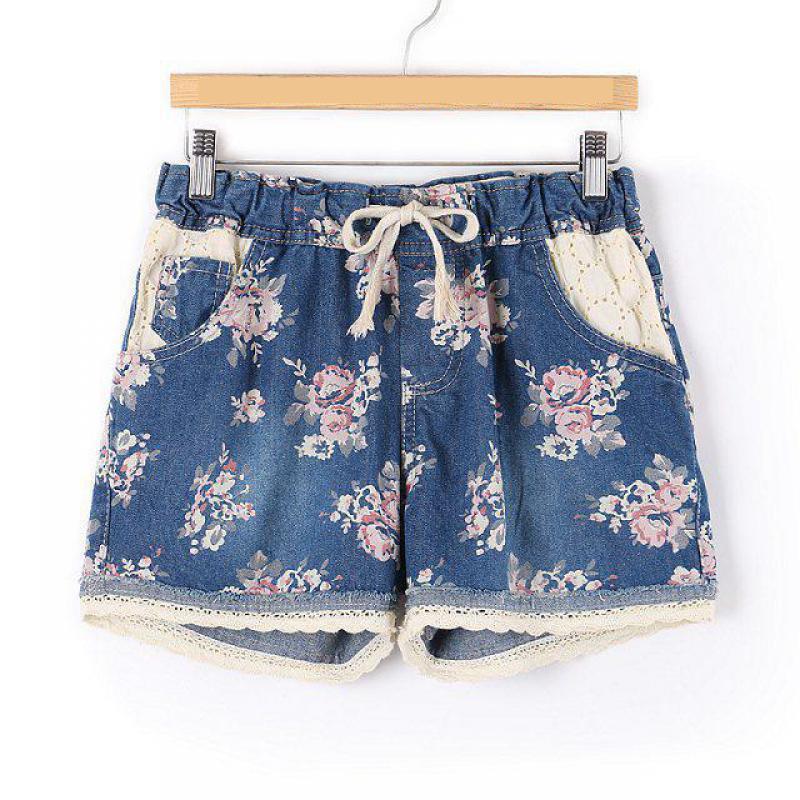 47b16da2586 2019 venta nueva llegada de la primavera pantalones cortos de mezclilla de  las mujeres Plus tamaño delgado borde de encaje cortos vaqueros 6 estilos  ...