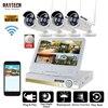 DAYTECH Wireless NVR Kits 2MP 1080P Surveillance System 4CH CCTV Cameras Wireless WiFi LCD Monitor HDD