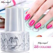 Lily angel 9ML Gelpolish Soak-off Gel Nail Polish UV LED Art Pearl White Bottle 38 Colors Available