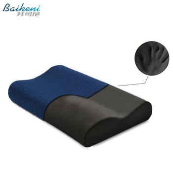 Ortopedyczna pianka zachowująca kształt poduszka na szyję 50*30 cm bambusa węgiel poduszka ortopedyczna do spania opieki zdrowotnej ból Release łóżko poduszki tanie i dobre opinie BODY Pościel THERAPY Pamięci Anty-chrapanie 300tc Klasa a BCpillow Poliester bawełna 0 5-1 kg baikeni Fala NECK Memory Foam