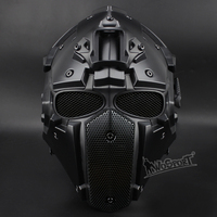 Hot Tactical OBSIDIAN GREEN GOBL TERMINATOR Helmet & Mask goggle Tactical Safety with Defogging Built in Fan