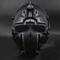Hot Tactical OBSIDIAN GREEN GOBL TERMINATOR Helmet & Mask goggle Tactical Safety with Defogging Built-in Fan