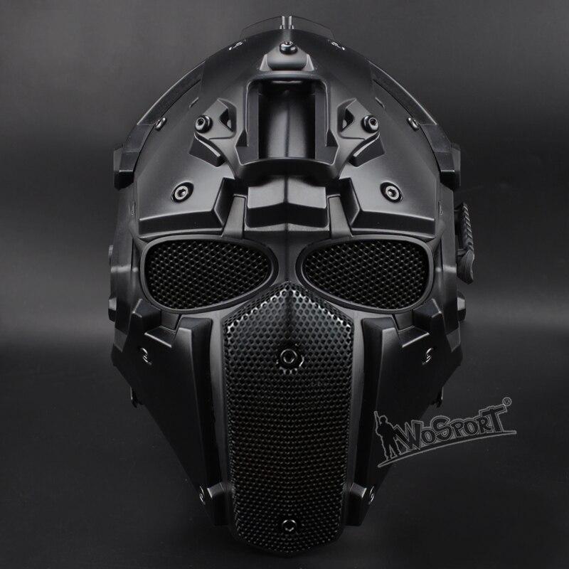 Hot tactique obsidienne vert GOBL terminateur casque et masque lunettes de sécurité tactique avec désembuage ventilateur intégré