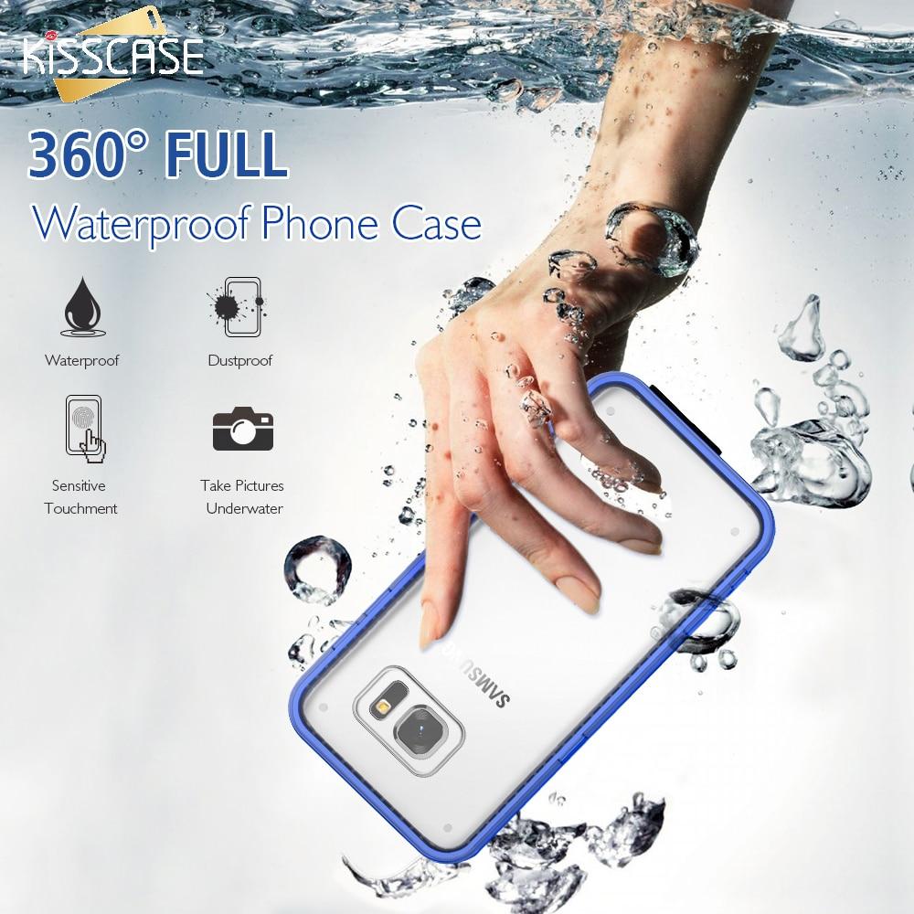 Цена за KISSCASE IPX68 Водонепроницаемый Чехол Для Samsung S7 Край Броня Прозрачный Плавание Ясно Сенсорный Крышки Экрана Для Samsung S7 Край Раковины