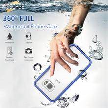 Kisscase IPX68 Водонепроницаемый чехол для Samsung S7 край подводный Одежда заплыва ясно Сенсорный экран чехол для Samsung Galaxy S7 край