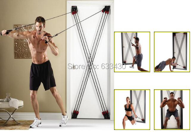 Free Shipping X Universal Door Rope Pull Resistance Fitness WEIDER X-FACTOR*6 6 Resistance Band Training Fitness