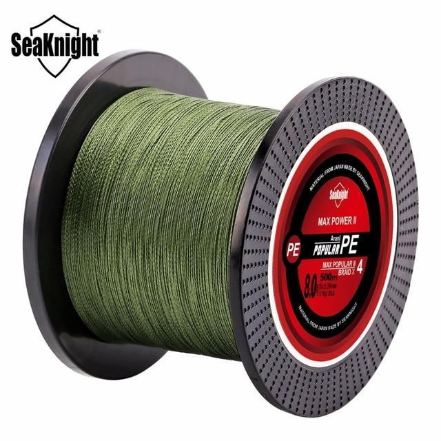 SeaKnight TriPoseidon Série 500 M 546YDS fil de pêche tressée pe 4 Brins 8 10 20 30 40 60LB Forte ligne de pêche multi-filament