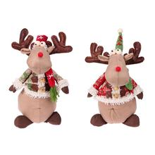 Christmas Elk Simulation Doll Home Shop Christmas Festival Decorations New Year Hanging Ornament Friend Kids Gifts