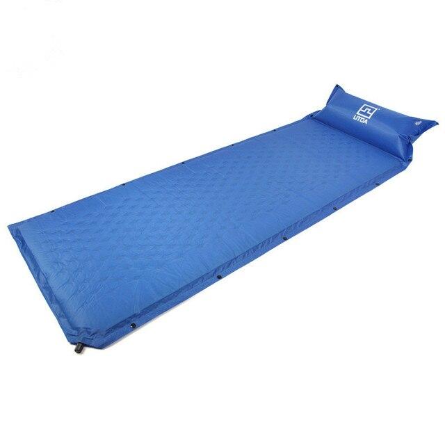Self Inflating Camping Hiking Mattress Sleeping Pad Mat Outing Moistureproof Splicing Air Tent Naturehike