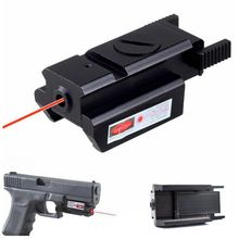 Tactical Red Laser Sight Laser Pointer Mini Compact Laser Sight with Picatinny Rail Mount for Tactical Riflescope Pistol Handgun visionking opitcs 2 20x44 side focus riflescope for 223 308 3006 338 huntig tactical military sight w 11mm mount rings page 5