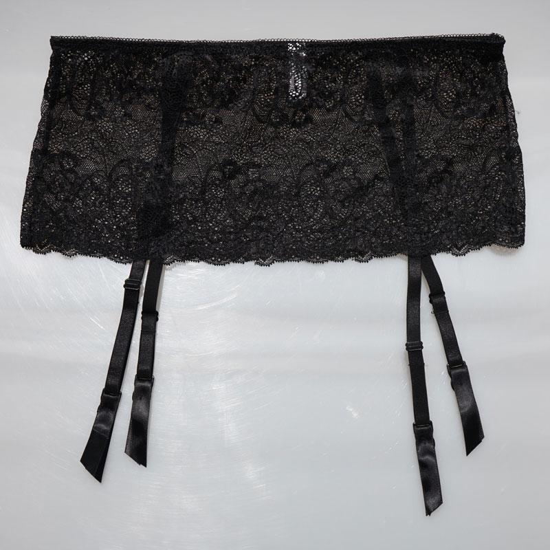 buy vogue women garters black lace garter belt 4 straps metal buckles clips