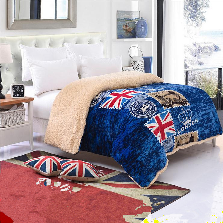 Detachable Thick Warm Winter Quilt Blanket Washable