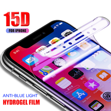 15D Full Cover Soft Hydrogel Film for iPhone 6 6S 7 8 Plus Phone Screen Protector on The for iPhone X XR XS MAX Film Not Glass