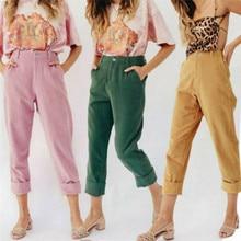Women Pencil Trousers Skinny Stretch Slim High Waist Trousers Leggings Pants цены