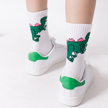 Hot Sale Funny Creative Women Ball Fire Dinosaur Print Lovers Socks 9 Style 1 Pair