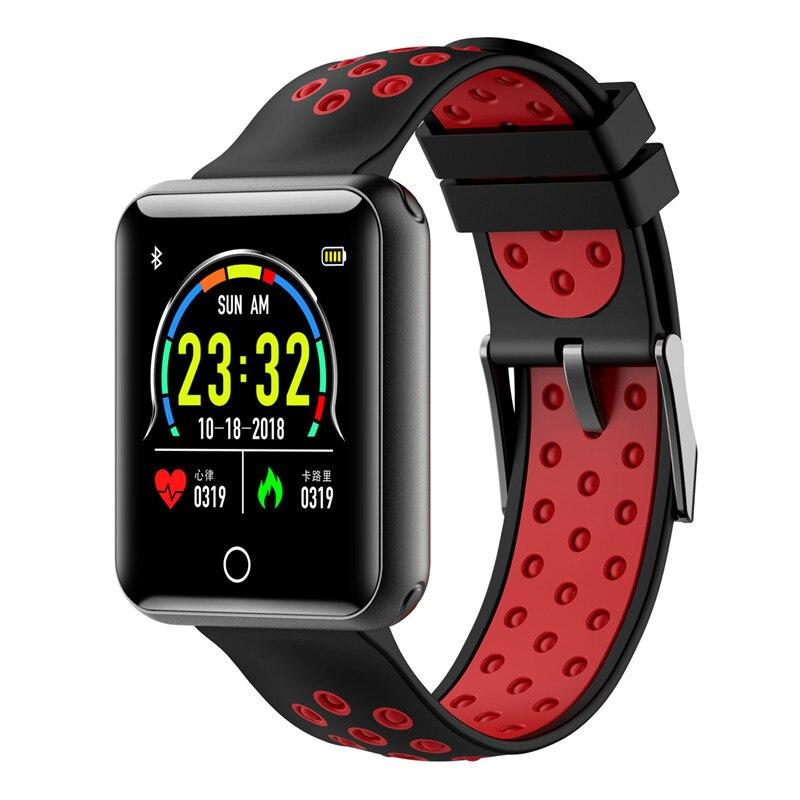 Nouveau Q18 montre intelligente IP68 étanche pression artérielle moniteur de fréquence cardiaque Tracker Fitness intelligent portable dispositif montre électronique