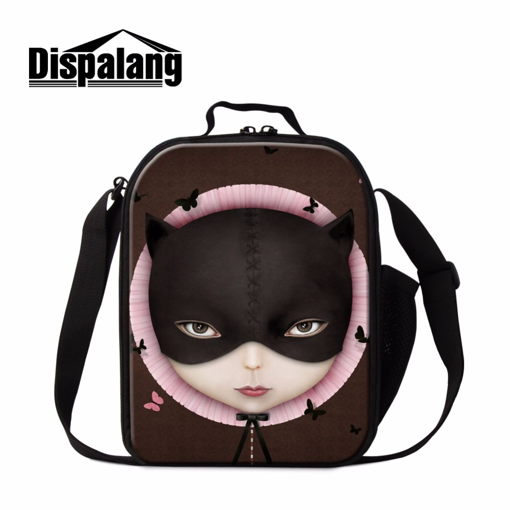 Dispalang Cool Doll Insulated Lunch Bag for Girls Trendy Thermal Lunch Container Samll Cooler Bag for teens School Meal Bag Kids