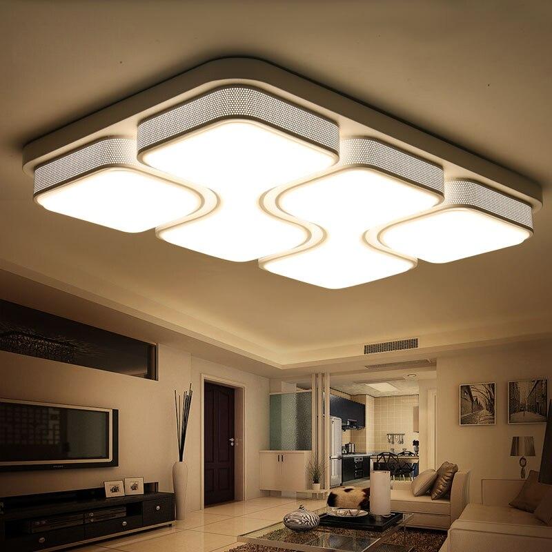 black white modern led ceiling lights for living room