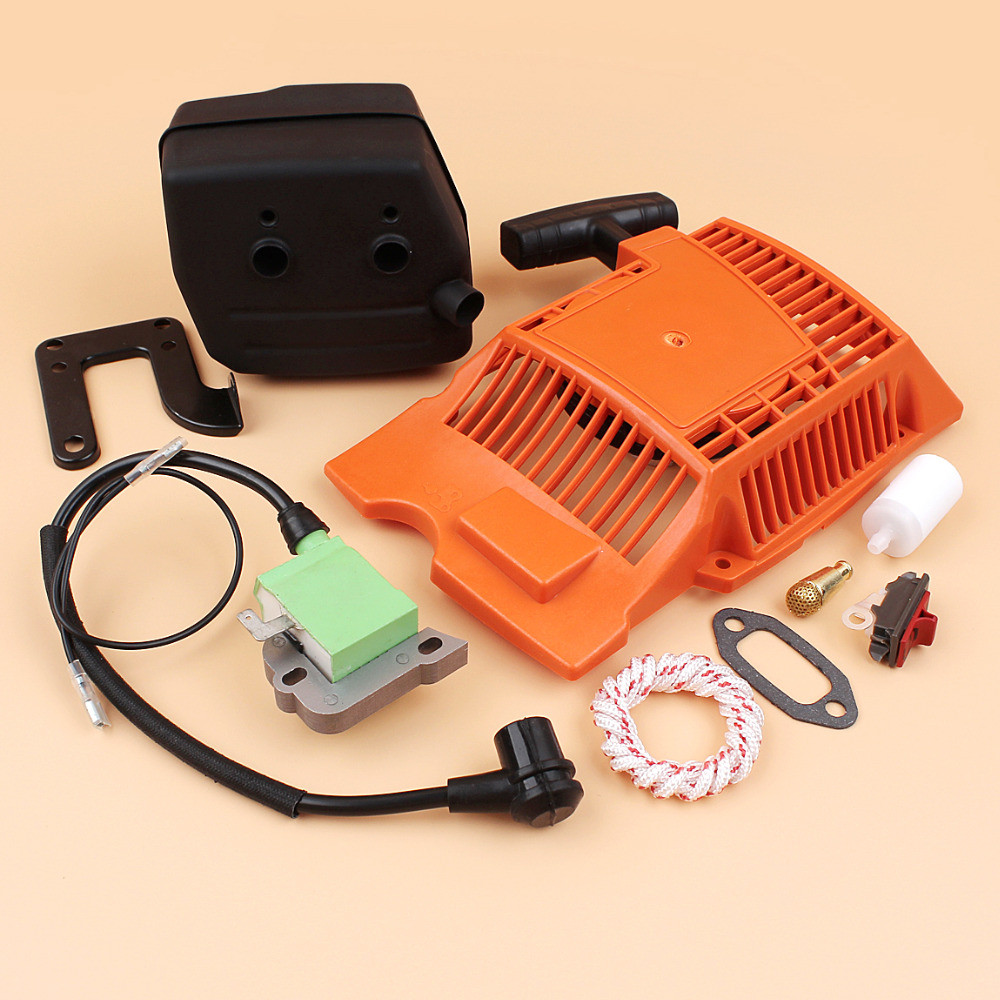 Recoil Pull Starter Ignition Coil Muffler Kit Fit HUSQVARNA 268 272 272XP Chainsaw Spare Parts 503615571