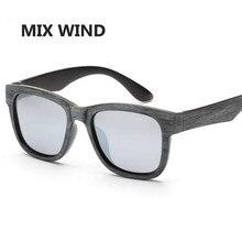 MIX WIND Fashion Men/Women Imitation Wood Sunglasses UV400 Oculos De Sol Masculino Sunglasses Women Eyewear Oculos Lady Gafas