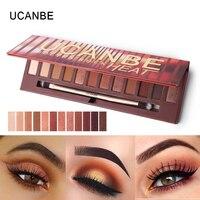 UCANBE Brand New 12 Colors Molten Rock Heat Eye Shadow Makeup Palette Shimmer Matte Naked Brown