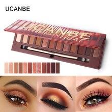 Фотография UCANBE Brand New 12 Colors Molten Rock Heat Eye Shadow Makeup Palette Shimmer Matte Naked Brown Red Warm Orange Eyeshadow Kits