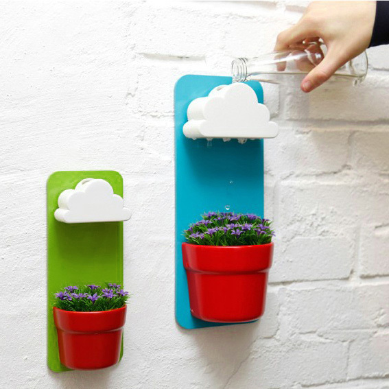 Unique Creative Masters Clouds Rainy Pot Pots Wall Best Home Office  Accessories