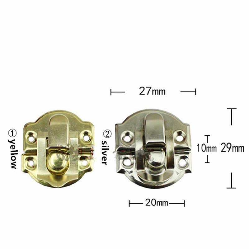 Besi antik Kotak Perhiasan Gembok Pengait Terkunci Kayu Anggur Kotak Hadiah Tas Gesper Aksesoris Hardware, 27*29mm, 6 Pcs