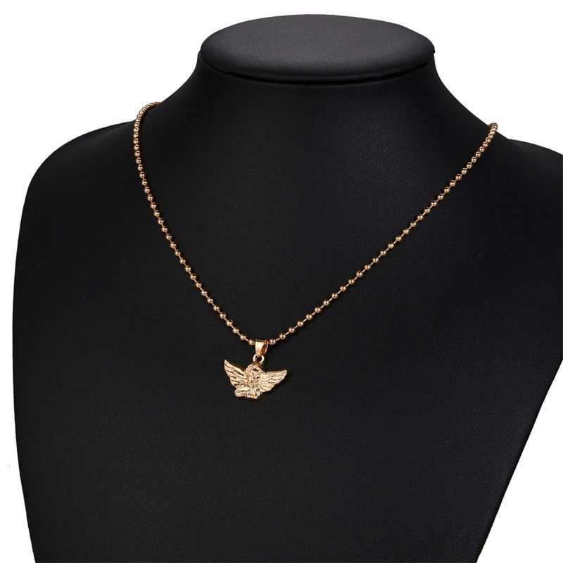 Punk metalowy łańcuszek wisiorek naszyjnik dla kobiet w stylu Vintage krzyż serce moneta blokada obroża naszyjnik czeski Choker biżuteria