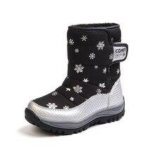 ULKNN Snow Boots For Kids Winter Shoes Boys Boots Girls Shoes Anti-Slippery Mid-Calf Platform Plush Lining tenis infantil menino